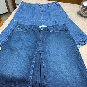 Jeans skirt set